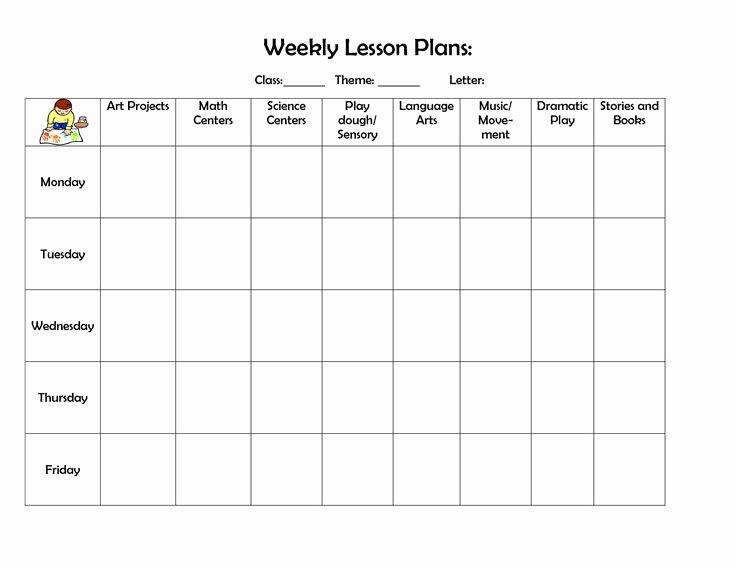 Blank toddler Lesson Plan Template Elegant 25 Best Ideas About Blank Lesson Plan Template On