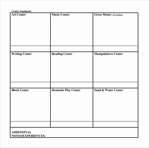 Blank toddler Lesson Plan Template Elegant 9 toddler Lesson Plan Samples