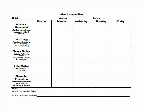 Blank toddler Lesson Plan Template Fresh 21 Preschool Lesson Plan Templates Doc Pdf Excel