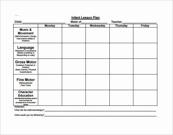Blank toddler Lesson Plan Template Fresh 21 Preschool Lesson Plan Templates Doc Pdf Excel