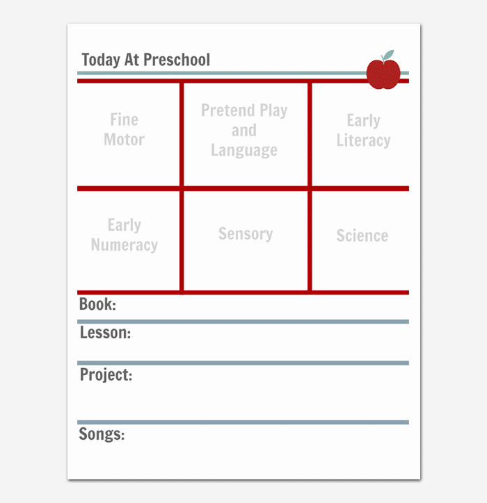 Blank toddler Lesson Plan Template Inspirational Preschool Lesson Plan Template Daily Weekly Monthly