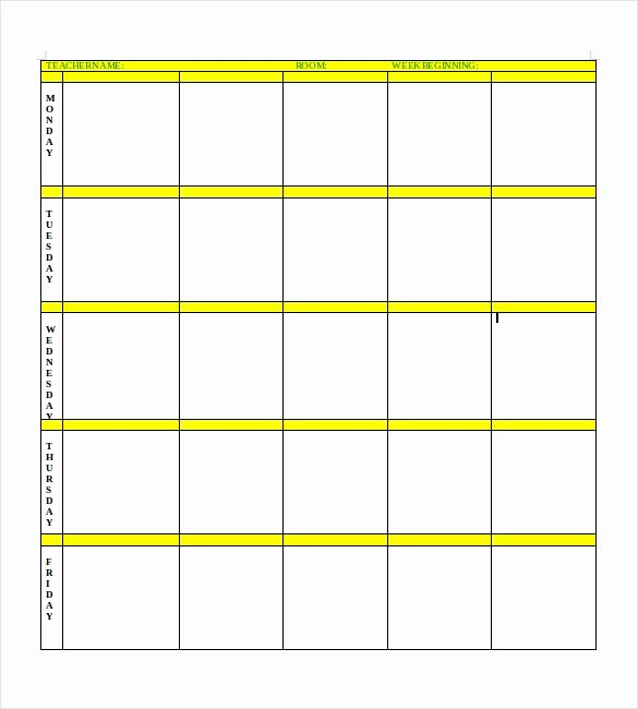 Blank toddler Lesson Plan Template Luxury Blank Lesson Plan Template