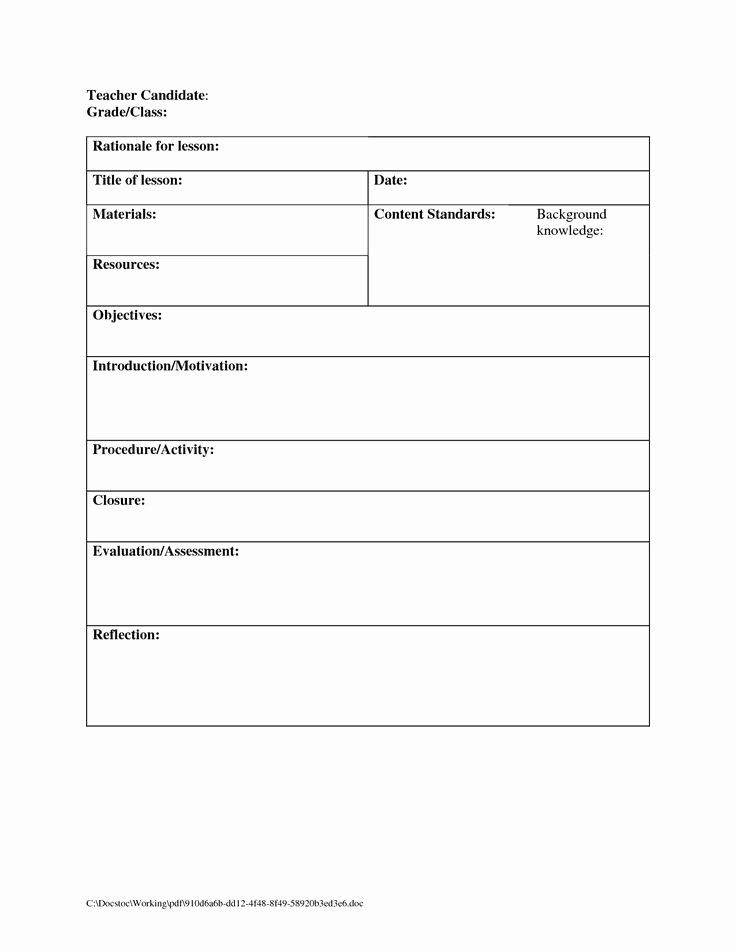 Blank toddler Lesson Plan Template New Best 25 Blank Lesson Plan Template Ideas On Pinterest