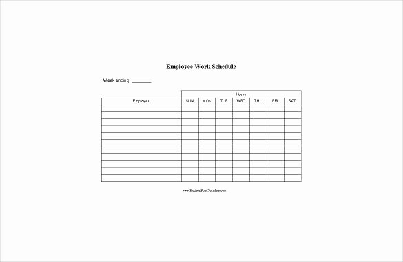 Blank Work Schedule Template Beautiful Blank Schedule Template – 21 Free Word Excel Pdf format