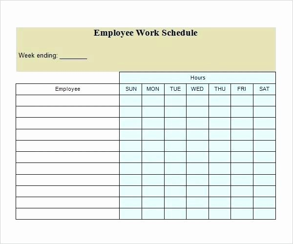 Blank Work Schedule Template Beautiful Employee Scheduling Calendar Template Free Weekly ate