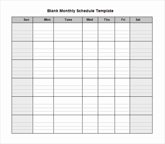 Blank Work Schedule Template Elegant Blank Weekly Employee Schedule Template to Pin On