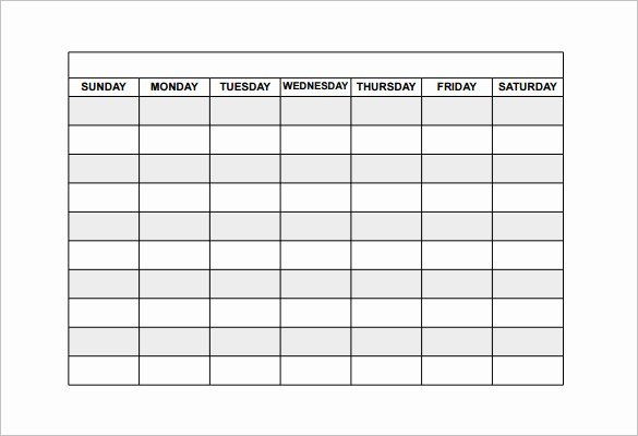 Blank Work Schedule Template Elegant Employee Shift Schedule Template 12 Free Word Excel