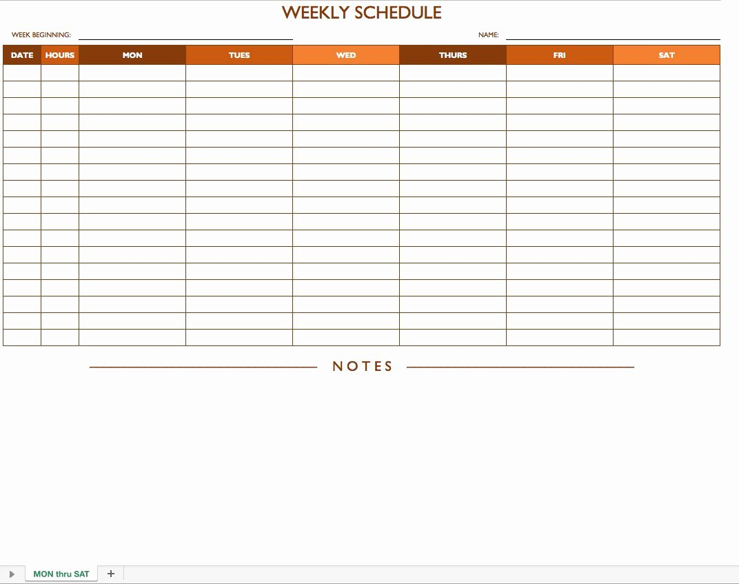 Blank Work Schedule Template Inspirational Free Work Schedule Templates for Word and Excel