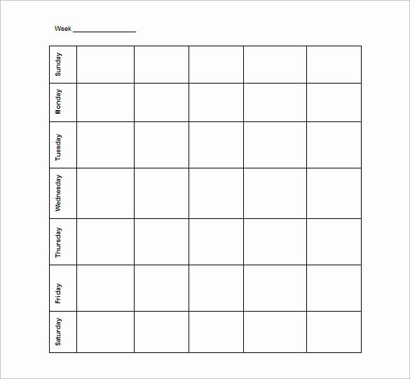 Blank Work Schedule Template Lovely Blank Schedule Template – 21 Free Word Excel Pdf format