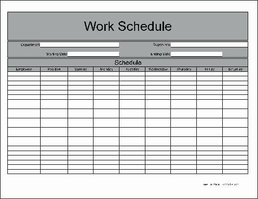 Blank Work Schedule Template Luxury Blank Work Schedule Maker Employee Shift Template Free
