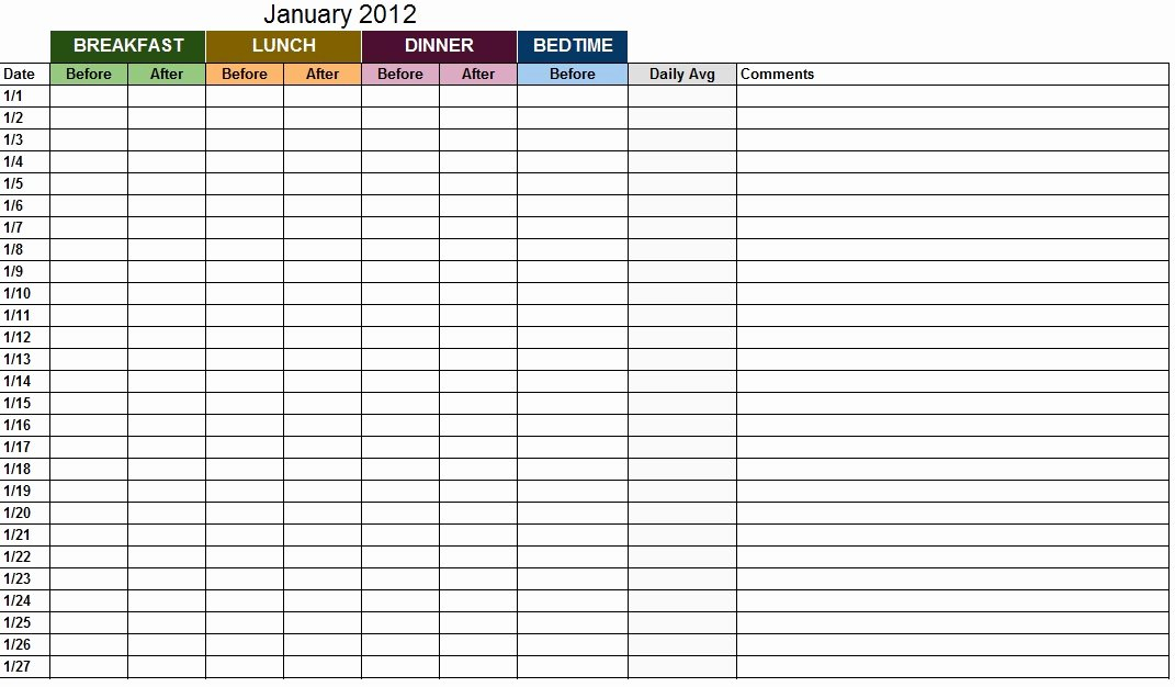 Blood Glucose Log Template Inspirational Blood Sugar Log Template Sample