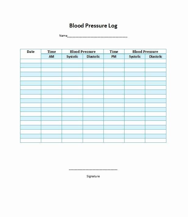 Blood Pressure Charting Template Beautiful 30 Printable Blood Pressure Log Templates Template Lab