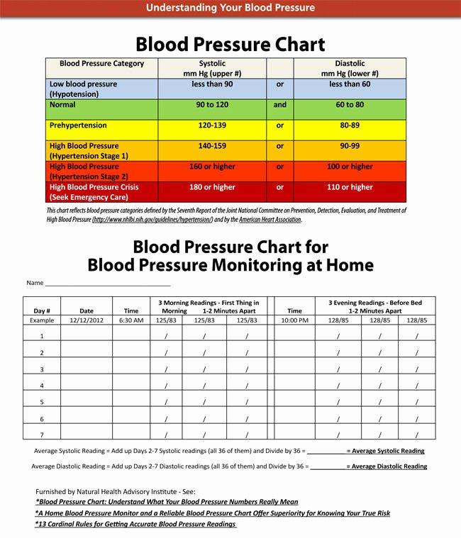 Blood Pressure Charting Template Beautiful Blood Pressure Chart and Log Templates Ages 2 to 20