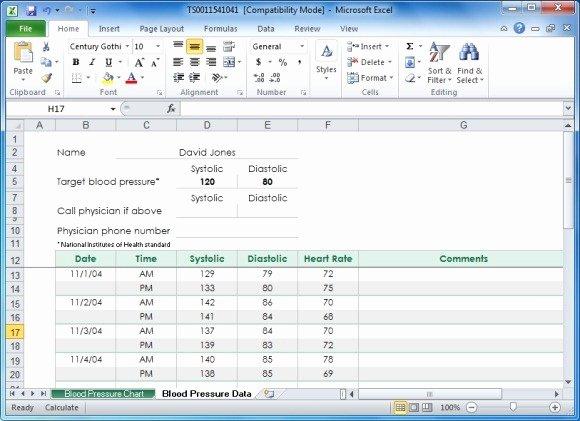 Blood Pressure Charting Template Beautiful Create Your Blood Pressure Chart with Free Excel Template