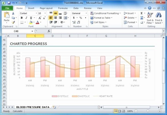 Blood Pressure Charting Template Elegant Blood Pressure Tracker Template for Excel