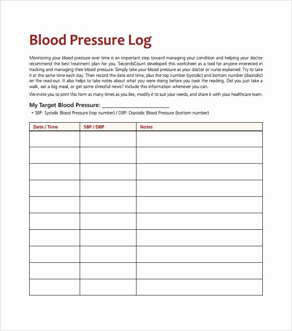 Blood Pressure Charting Template Lovely Blood Pressure Log Template – 10 Free Word Excel Pdf