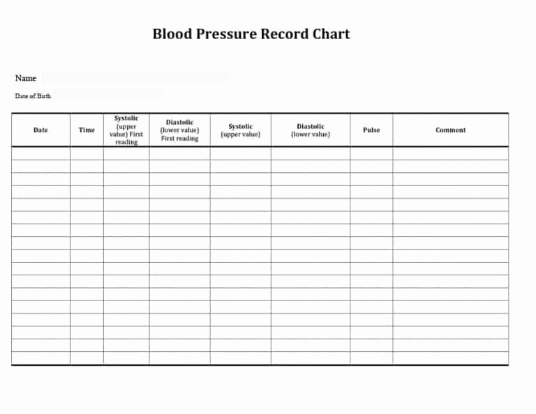 Blood Pressure Charting Template Luxury 56 Daily Blood Pressure Log Templates [excel Word Pdf]