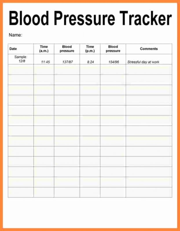 Blood Pressure Charting Template New Blood Pressure Recording Charts Template