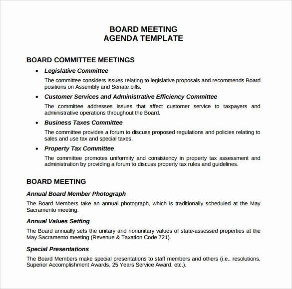 Board Meeting Agenda Template Beautiful Board Meeting Agenda Templates