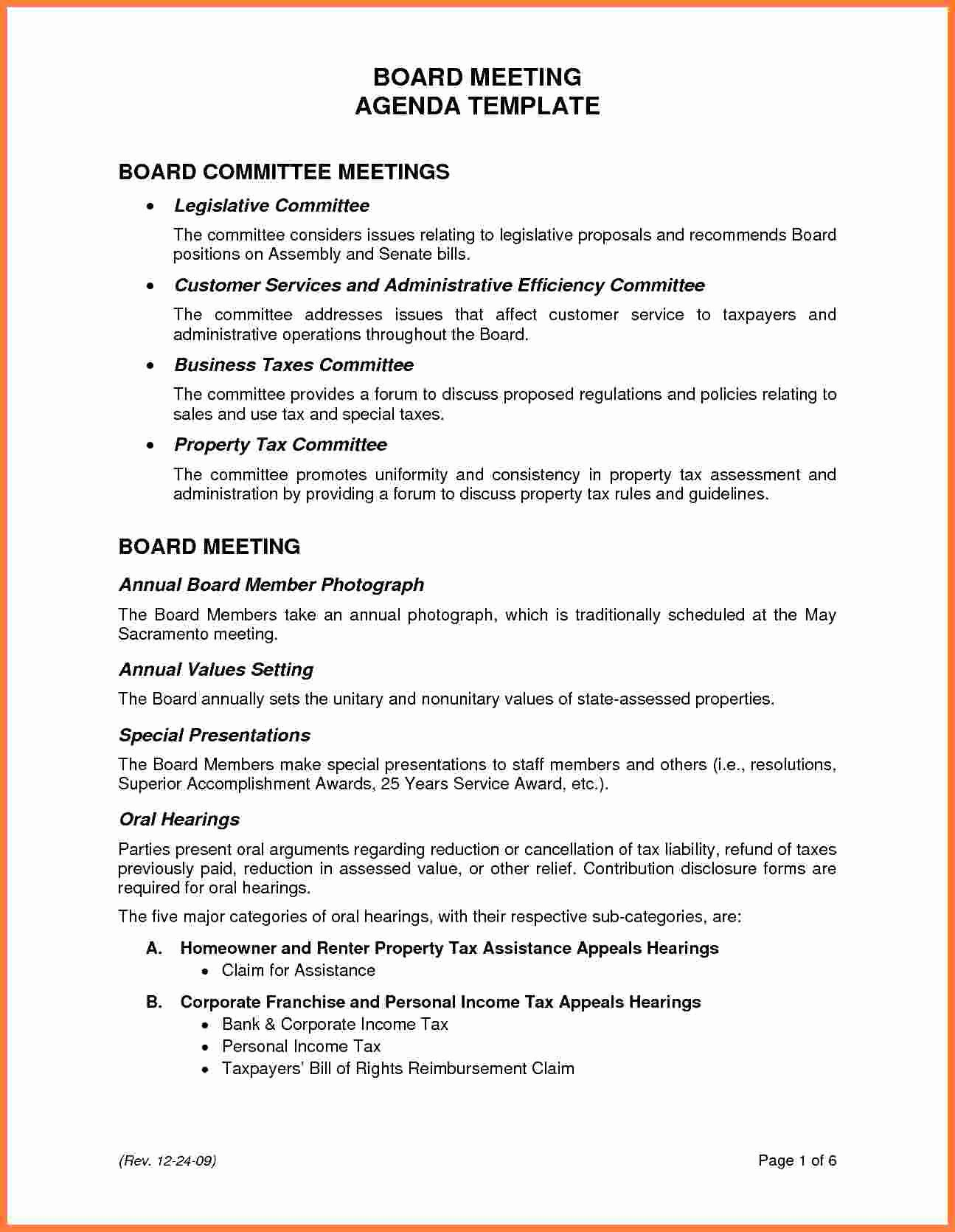 Board Meeting Agenda Template Best Of 5 Board Meeting Agenda