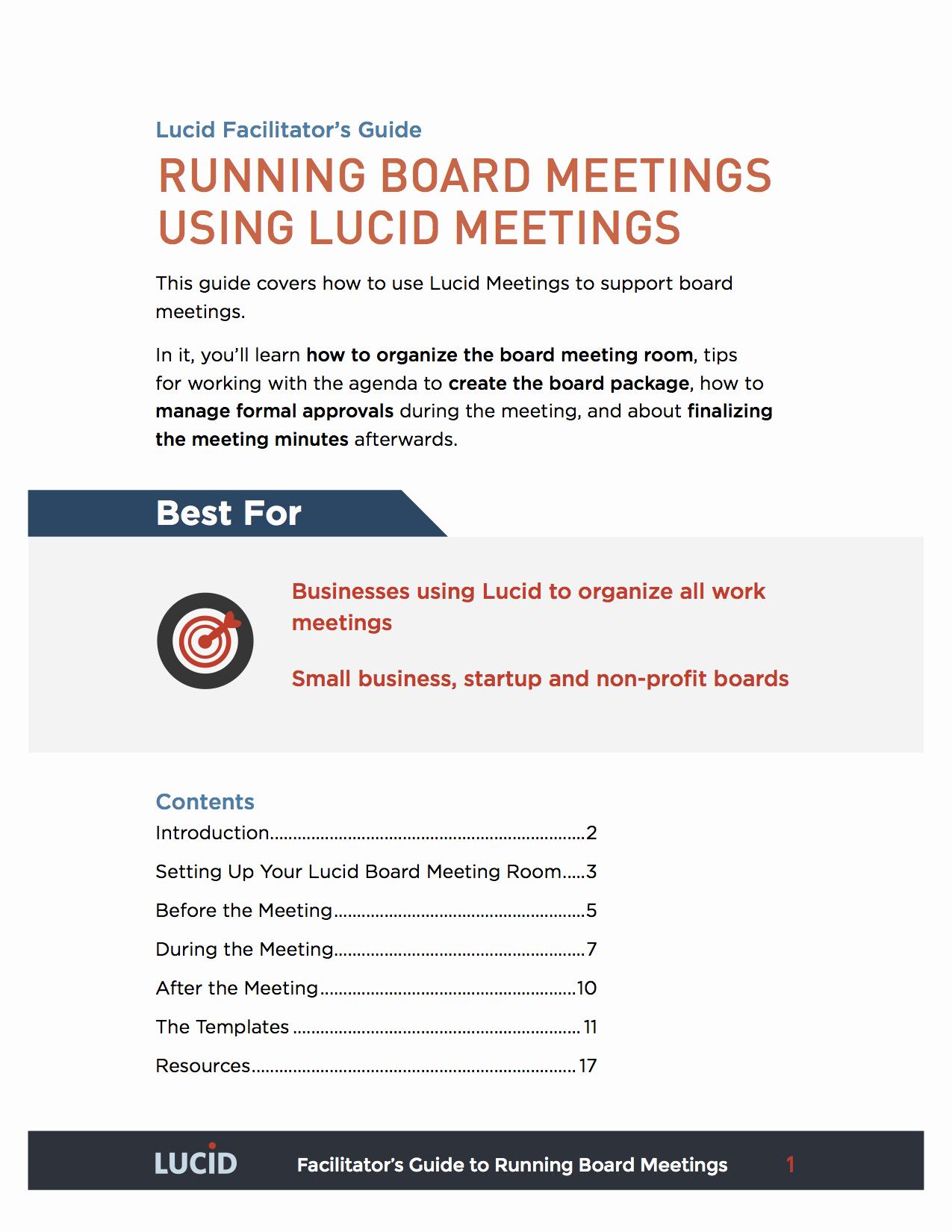 Board Meeting Agenda Template Fresh Simple Board Meeting