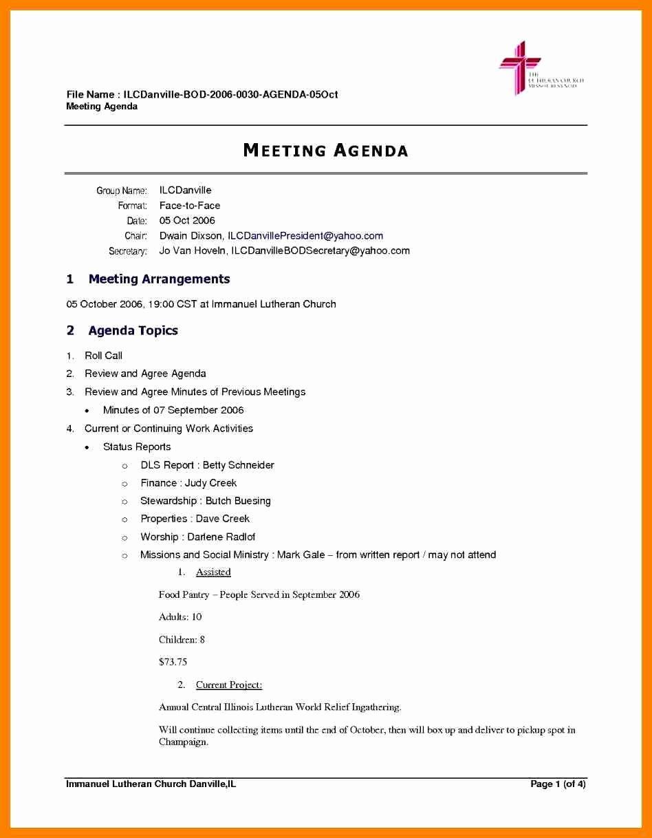 Board Meeting Agenda Template Word Elegant Sample Board Meeting Agenda Featuring Protect Letters