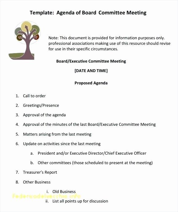 Board Meeting Agenda Template Word New E Meeting Agenda Template Inspirational Sample Board