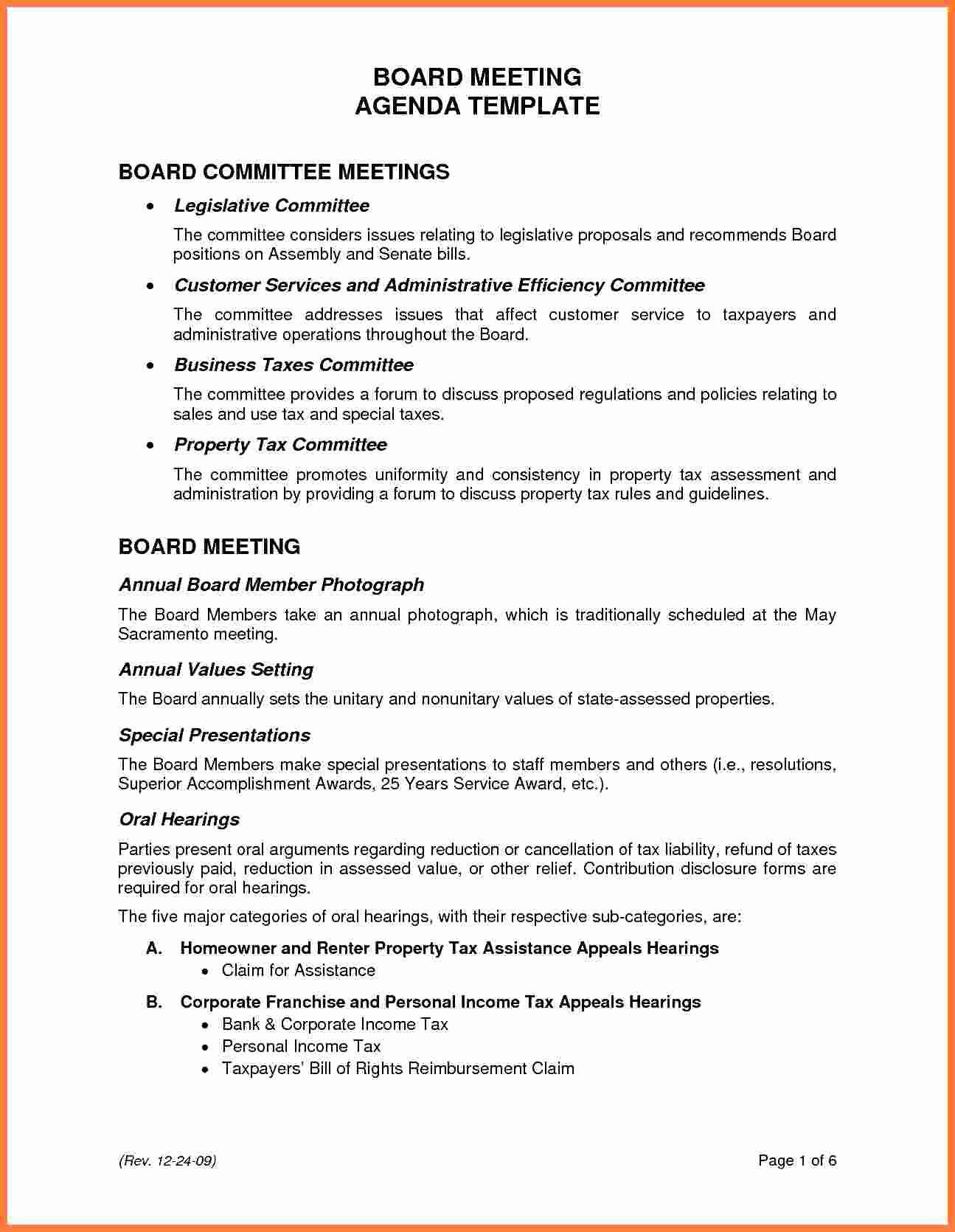 Board Meeting Minutes Template Beautiful 5 Board Meeting Agenda