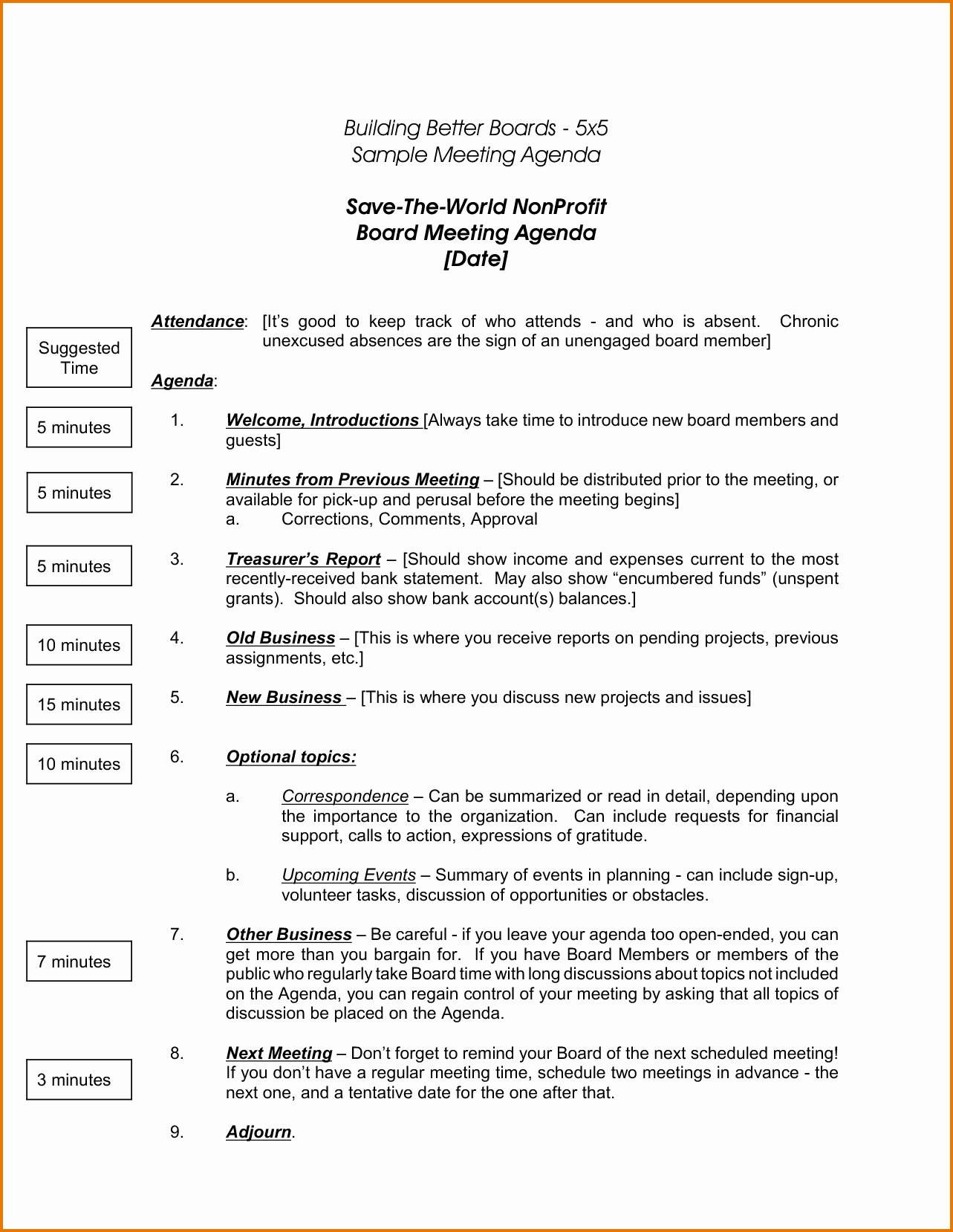 Board Meeting Minutes Template Best Of Nonprofit Board Meeting Agenda Template 2018