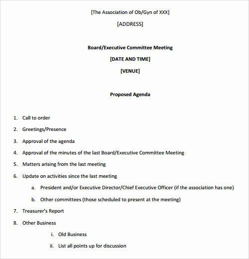 Board Meeting Minutes Template Inspirational Sample Agenda Template 27 Download Free Documents In
