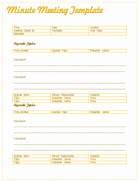 Board Meeting Minutes Template Lovely Meeting Minutes Template Best for formal Informal Meetings
