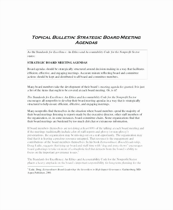 Board Meeting Minutes Template Nonprofit Fresh Board Agenda Template Non Profit Meeting Examples