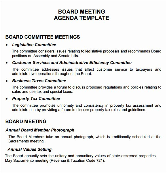 Board Meeting Minutes Template Unique 12 Board Meeting Agenda Templates – Free Samples Examples