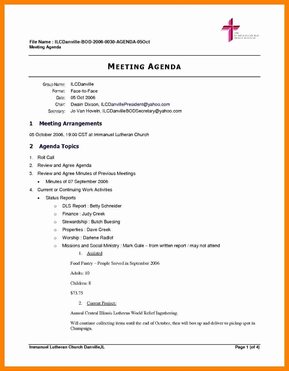 Board Meeting Minutes Template Word Lovely Sample Board Meeting Agenda Featuring Protect Letters