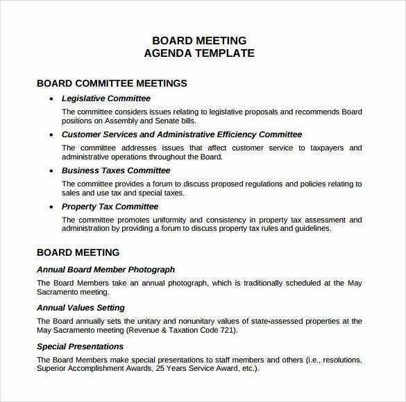 Board Meeting Minutes Template Word Unique Sample Board Meeting Agenda Template 11 Free Documents
