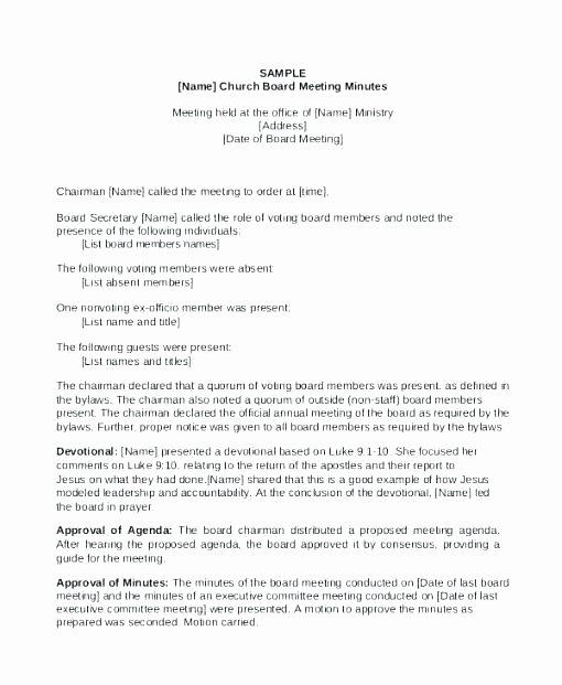 Board Of Directors Meeting Template Best Of Directors Meeting Minutes Template Board Doc Templates