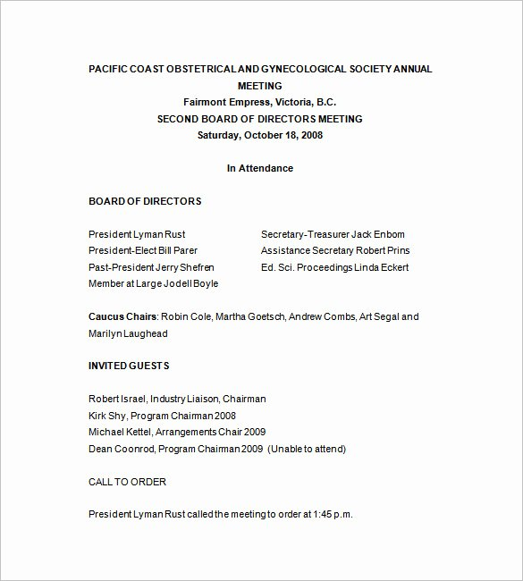 Board Of Directors Meeting Template Elegant Board Directors Meeting Template to Pin On