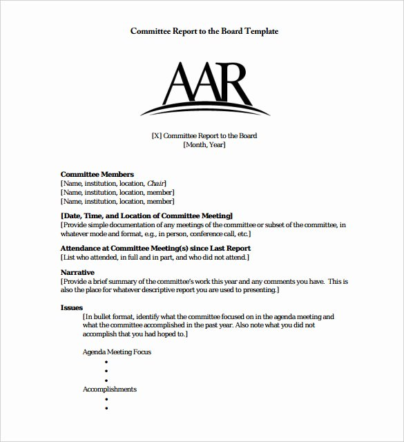 Board Of Directors Report Template Inspirational 22 Board Report Templates Pdf Doc