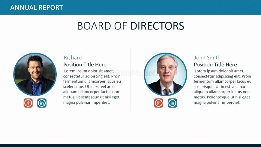Board Of Directors Report Template Inspirational Board Of Directors Powerpoint Slide Design Slidemodel