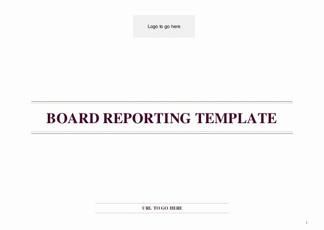 Board Of Directors Report Template Lovely Board Reporting Template