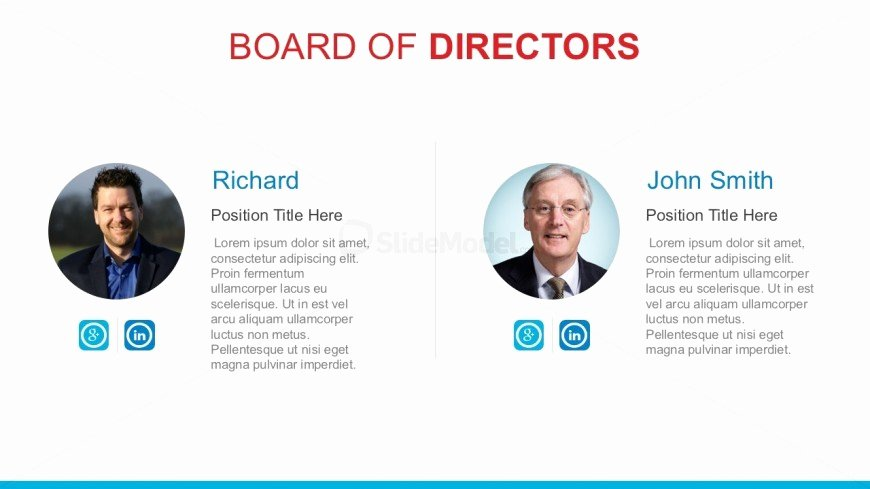 Board Of Directors Report Template Luxury Pany Board Directors Powerpoint Template Slidemodel