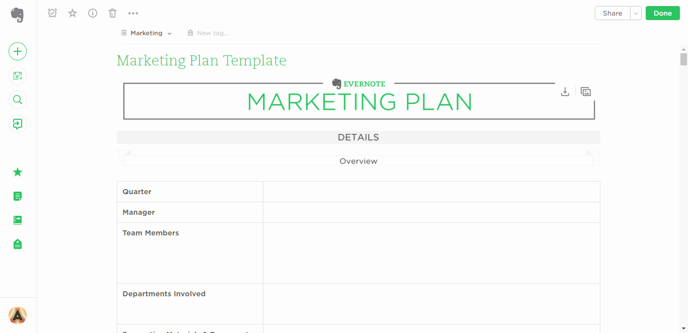 Book Marketing Plan Template Elegant 21 Evernote Templates & Workflows to Skyrocket
