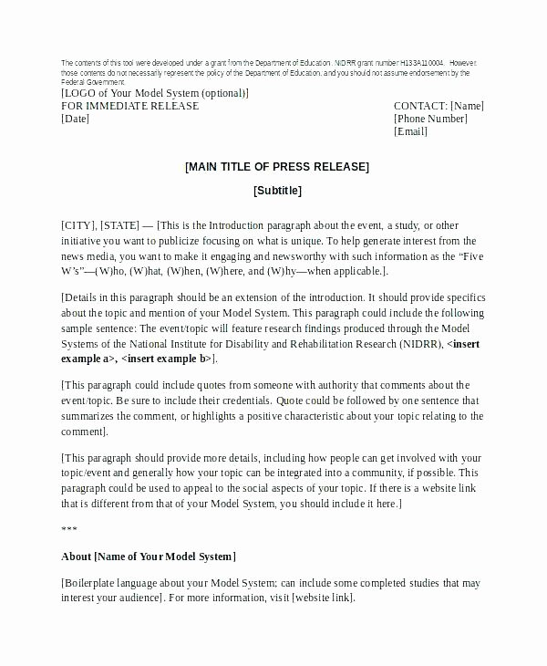 Book Press Release Template Awesome Image Titled Write A Press Release Step 6 format Ap Style