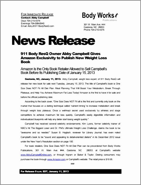 Book Press Release Template Beautiful 6 Book Press Release Template Yarit