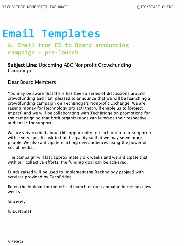 Book Press Release Template Elegant Quick Start Guide for Your Nonprofit Technology