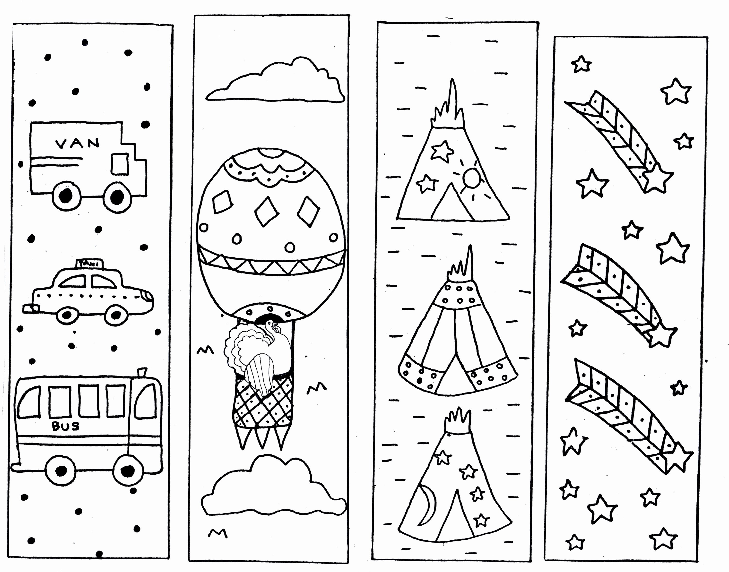 Bookmark Template for Pages Beautiful Printable Coloring Reading Bookmarks