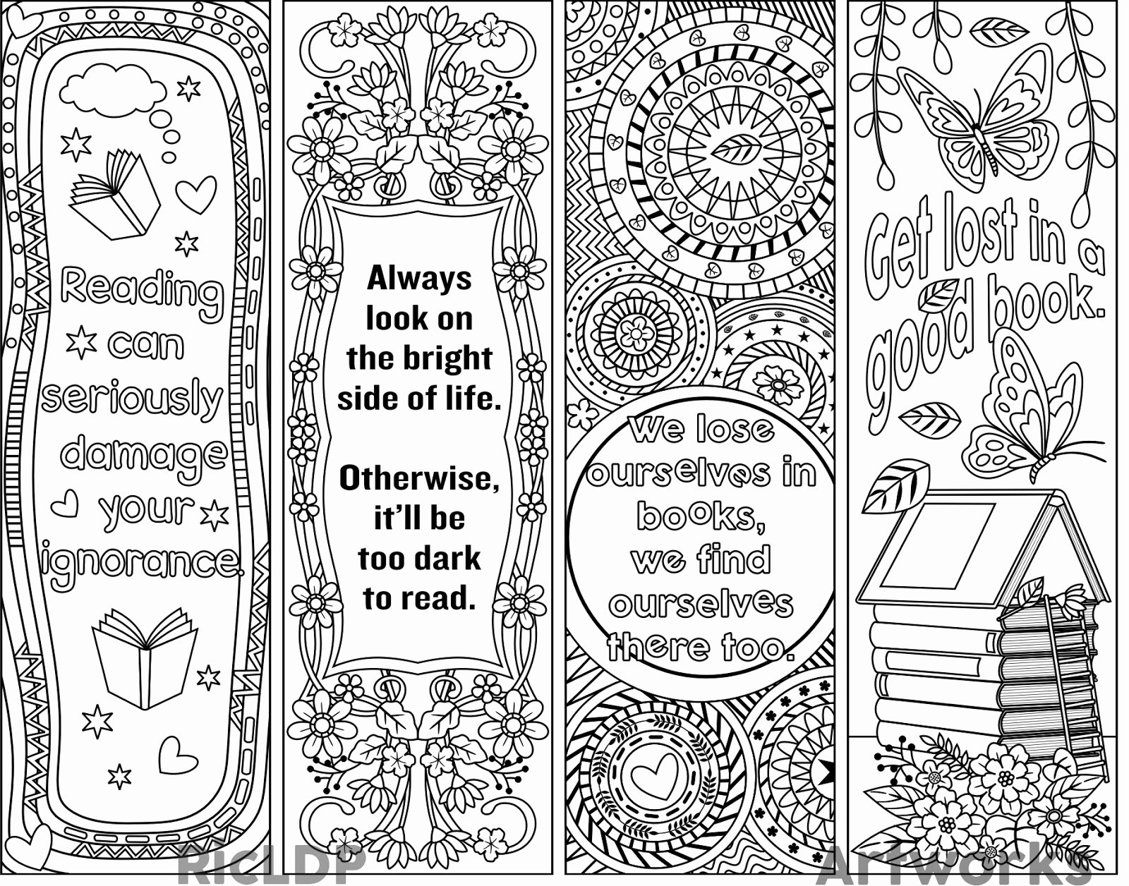 Bookmark Template for Pages Beautiful Ricldp Artworks Printable Coloring Bookmarks