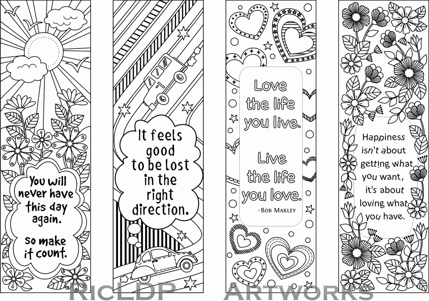 Bookmark Template for Pages Elegant Printable Colouring Bookmarks with Quotes Coloring