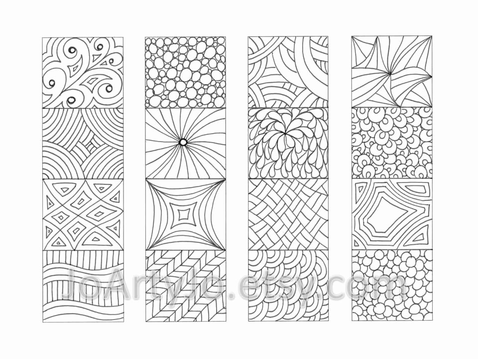 Bookmark Template for Pages Fresh Color Your Own Bookmarks Zentangle Inspired Printable от