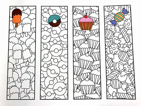 Bookmark Template for Pages Fresh Sweets Bookmarks Pdf Zentangle Coloring Page